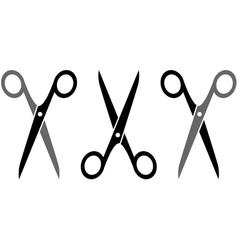 set three scissors vector image