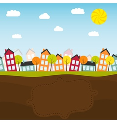 Banner with small town vector image vector image
