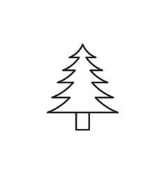 fir tree icon vector image vector image