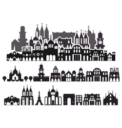 Houses Background vector image vector image