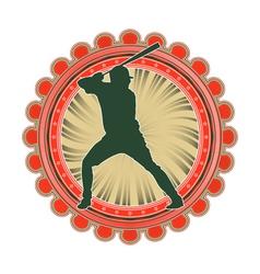 port emblem baseball vector image