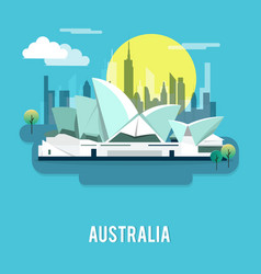 Sydney opera house sightseeing landmark australia vector
