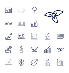 22 growth icons vector