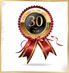 30 years anniversary label vector