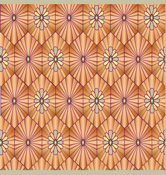 abstract floral pattern stylish geometric vector image