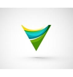 Abstract geometric company logo triangle arrow vector