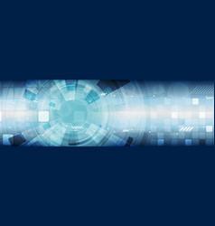 abstract tech industrial hud gear web header vector image
