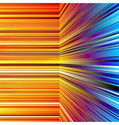 Abstract warped orange and blue stripes vector image