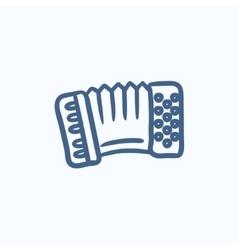 Accordion sketch icon vector image
