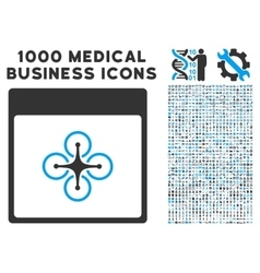 Air Copter Calendar Page Icon With 1000 Medical vector