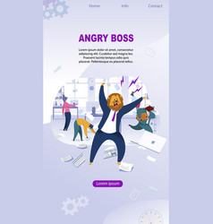 Angry boss with lion nead vector