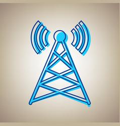 antenna sign sky blue icon vector image
