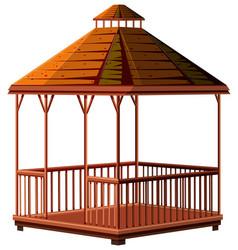 architecture design for wooden pavilion vector image