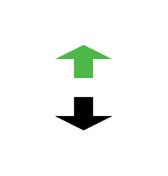 arrows letter h logo design vector image