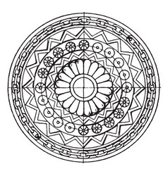 Assyrian shield circular panel is found in vector