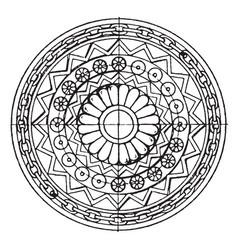 Assyrian shield circular panel is found vector