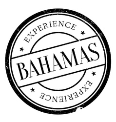Bahamas stamp rubber grunge vector