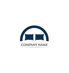 bed logo template vector image