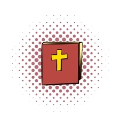 Bible comics icon vector image