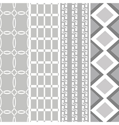 black white pattern four style vector image