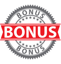 bonus sign certified badge vector image