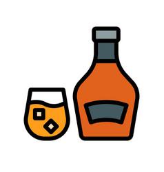 Brandy beverage filled icon editable stroke vector