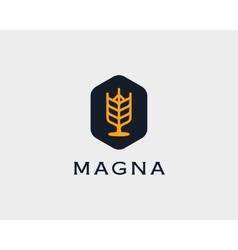 Brewery logotype Beer logo design template vector image