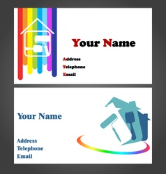 Business Card - Painter vector