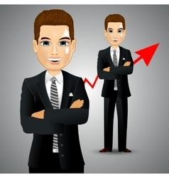 Businessman with arm crossed vector