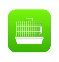 cage for birds icon digital green vector image