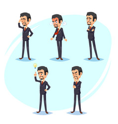 cartoon colorful of a handsome vector image