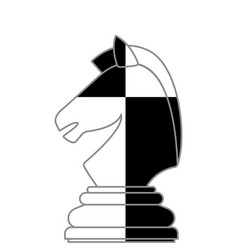 Chess knight abstract vector
