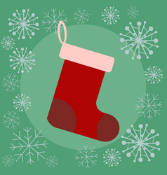 christmas sock flat vector image