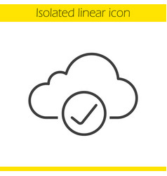 cloud storage linear icon vector image