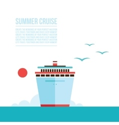 Cruise liner ship background Travel Tourism vector