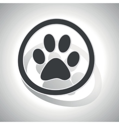 Curved animal sign icon vector image