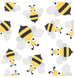 cute bee seamless pattern for wallpaper or vector image