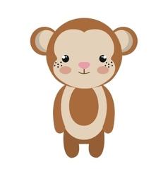 cute little monkey animal character vector image vector image