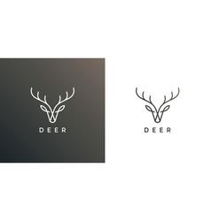 deer antler logo line icon vector image