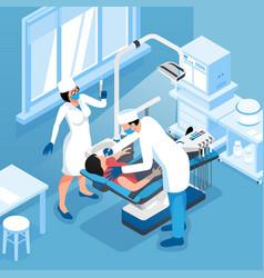Dentist isometric vector