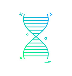 dna icon design vector image