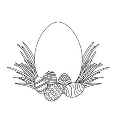 easter egg on grass vector image