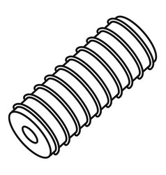 electric spring coil icon outline style vector image