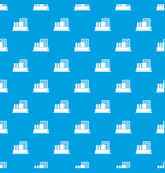 Equipment for production oil pattern seamless blue vector