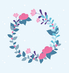 flowers wedding wreath flourish leaves ornate vector image