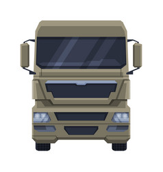 Front view truck cargo freight delivery semi vector