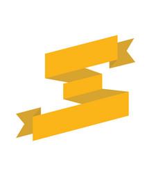 Gold big ribbon isolated vector