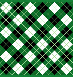 green black white argyle harlequin seamless patter vector image
