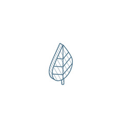green leaf eco isometric icon 3d line art vector image