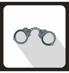 Handcuffs icon in flat style vector